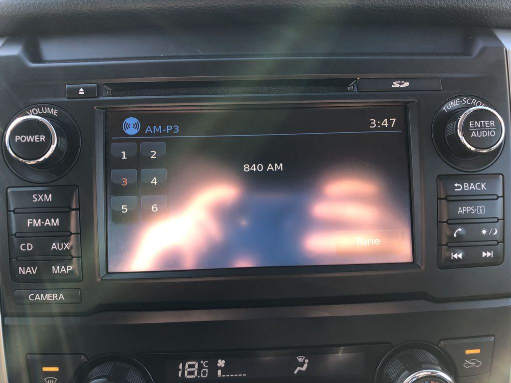 White[Glacier White] 2018 Nissan Titan XD Radio Controls Closeup Photo in Edmonton AB