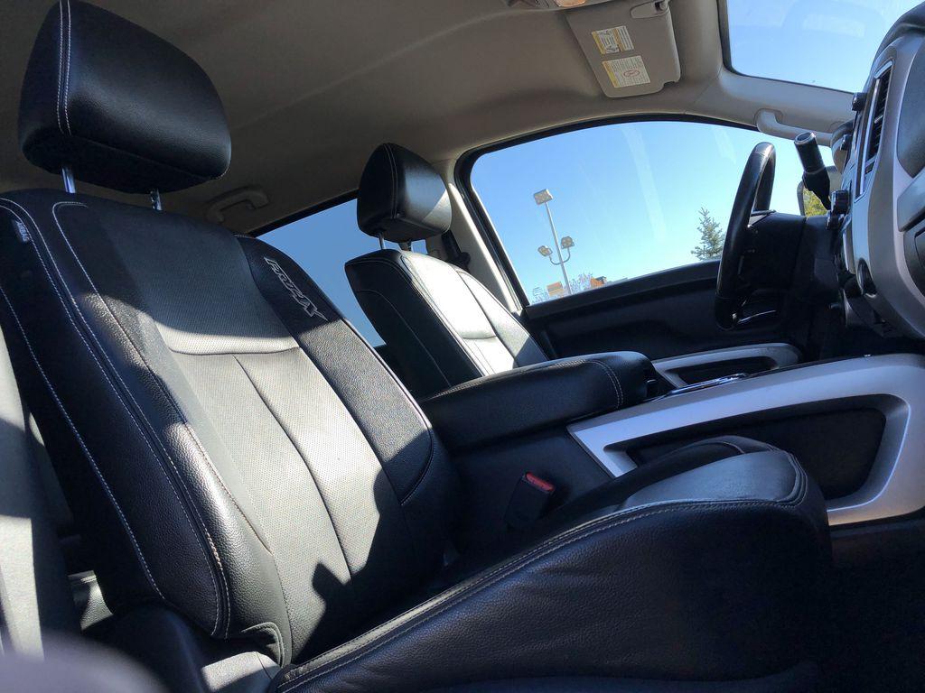 White[Glacier White] 2018 Nissan Titan XD Right Side Front Seat  Photo in Edmonton AB