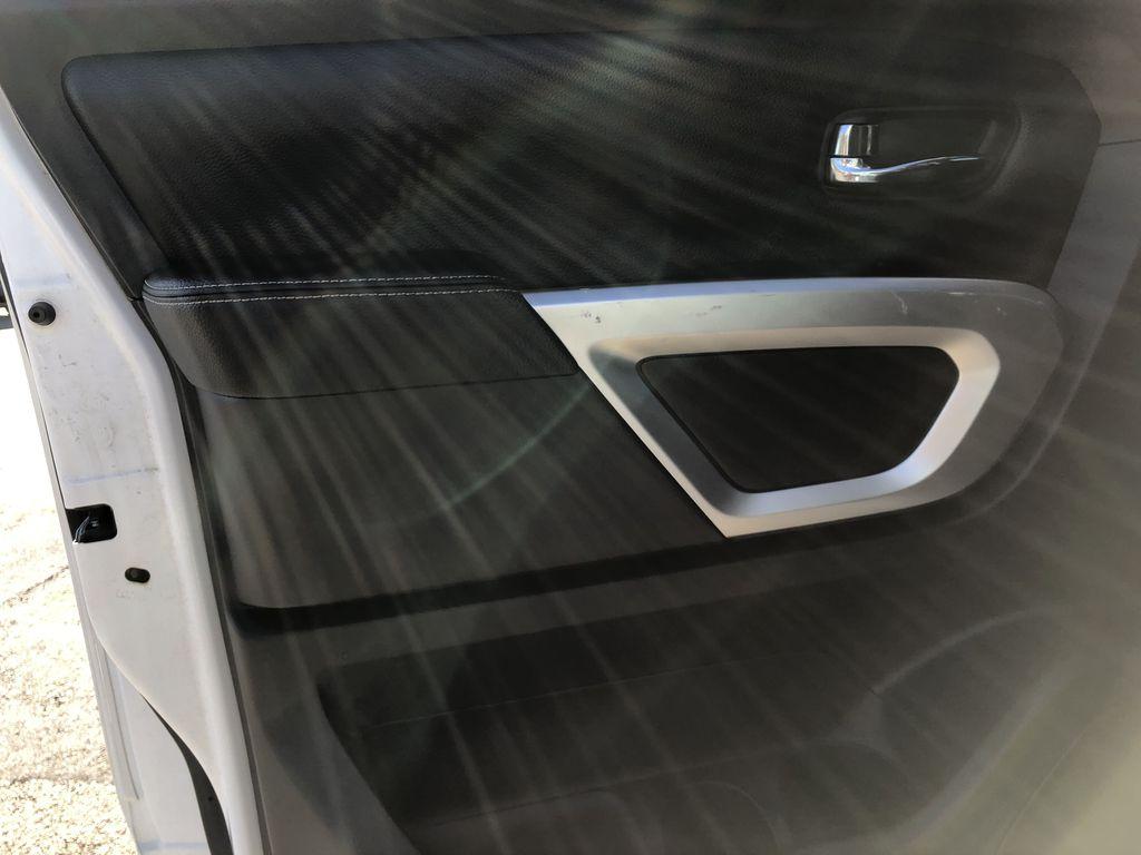 White[Glacier White] 2018 Nissan Titan XD Left Rear Interior Door Panel Photo in Edmonton AB