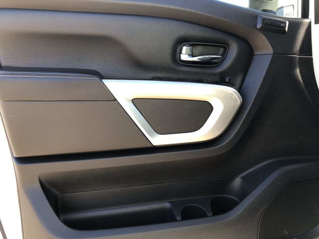 White[Glacier White] 2018 Nissan Titan XD Left Front Interior Door Panel Photo in Edmonton AB