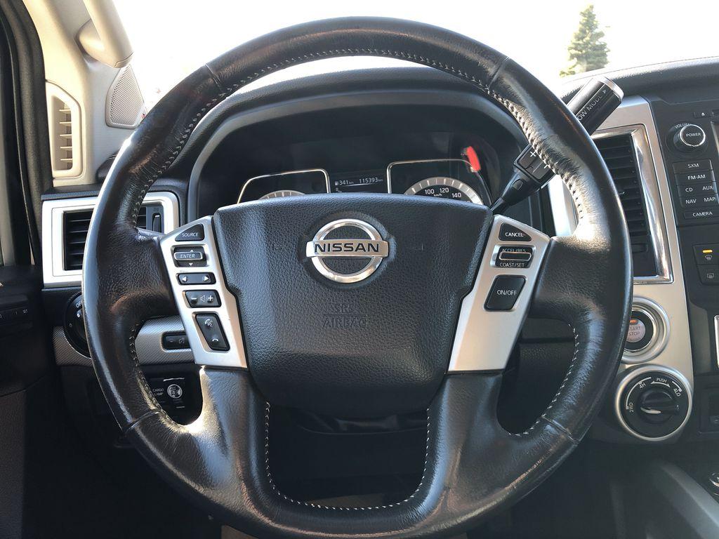White[Glacier White] 2018 Nissan Titan XD Strng Wheel: Frm Rear in Edmonton AB