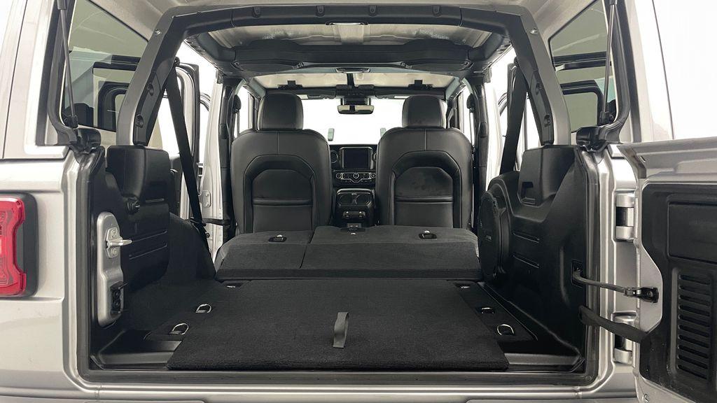 Silver[Billet Silver Metallic] 2021 Jeep Wrangler Unlimited High Altitude - RARE Gas/Electric Hybrid Rear Seat: Cargo/Storage Photo in Winnipeg MB