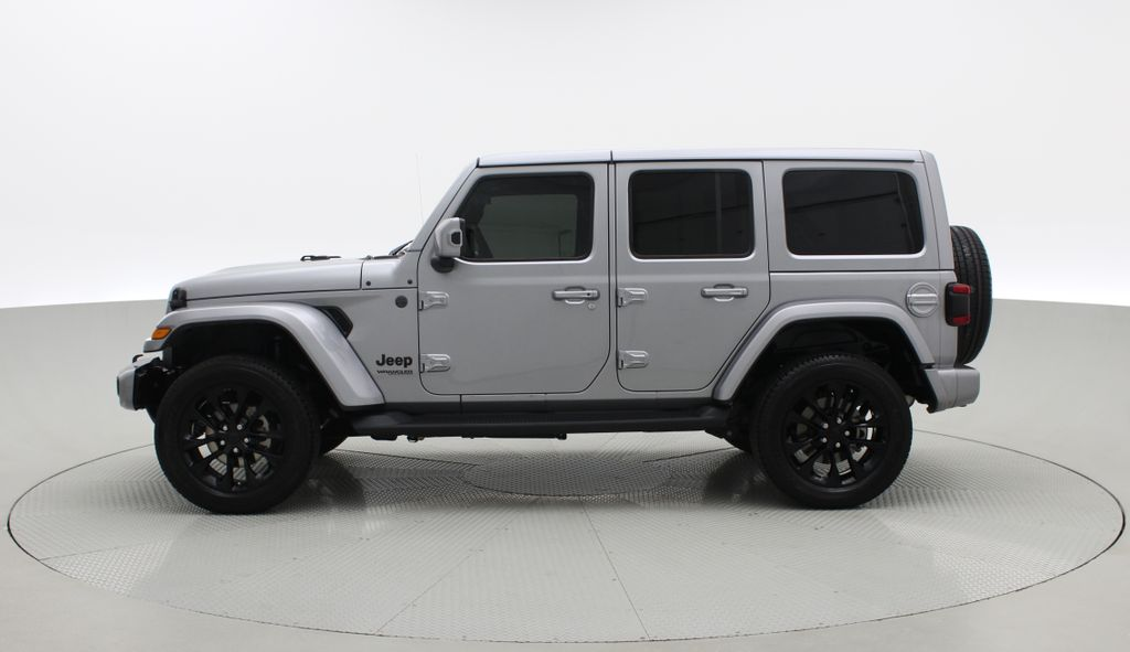 Silver[Billet Silver Metallic] 2021 Jeep Wrangler Unlimited High Altitude - RARE Gas/Electric Hybrid Left Side Photo in Winnipeg MB