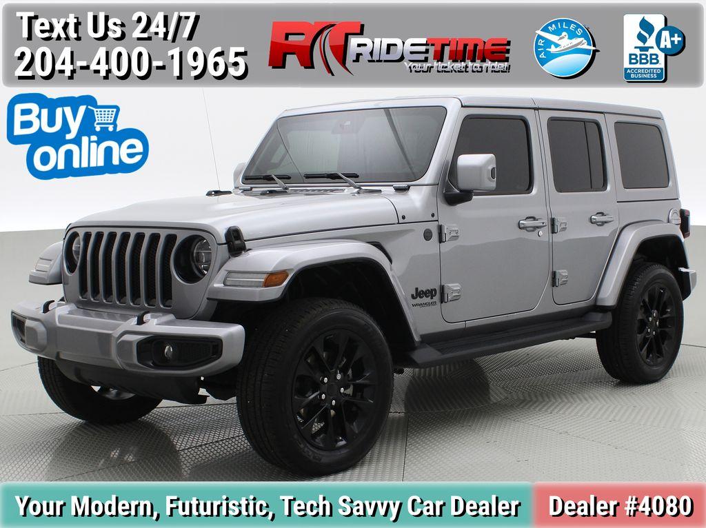 Silver[Billet Silver Metallic] 2021 Jeep Wrangler Unlimited High Altitude - RARE Gas/Electric Hybrid