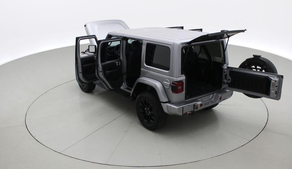 Silver[Billet Silver Metallic] 2021 Jeep Wrangler Unlimited High Altitude - RARE Gas/Electric Hybrid Right  Rear Corner Photo in Winnipeg MB