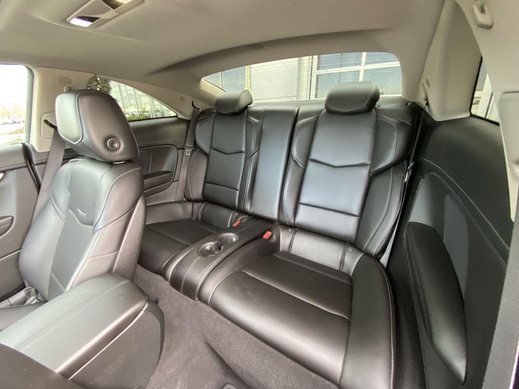 Black[Black Raven] 2017 Cadillac ATS Coupe Left Rear Interior Door Panel Photo in Calgary AB