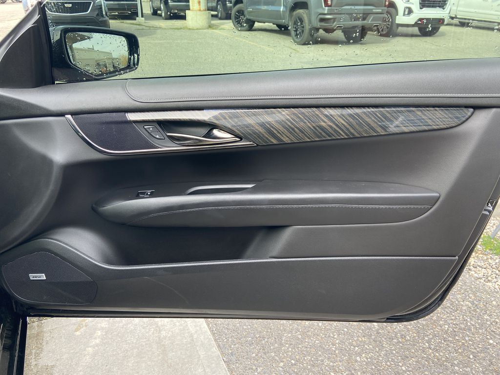 Black[Black Raven] 2017 Cadillac ATS Coupe Right Front Interior Door Panel Photo in Calgary AB