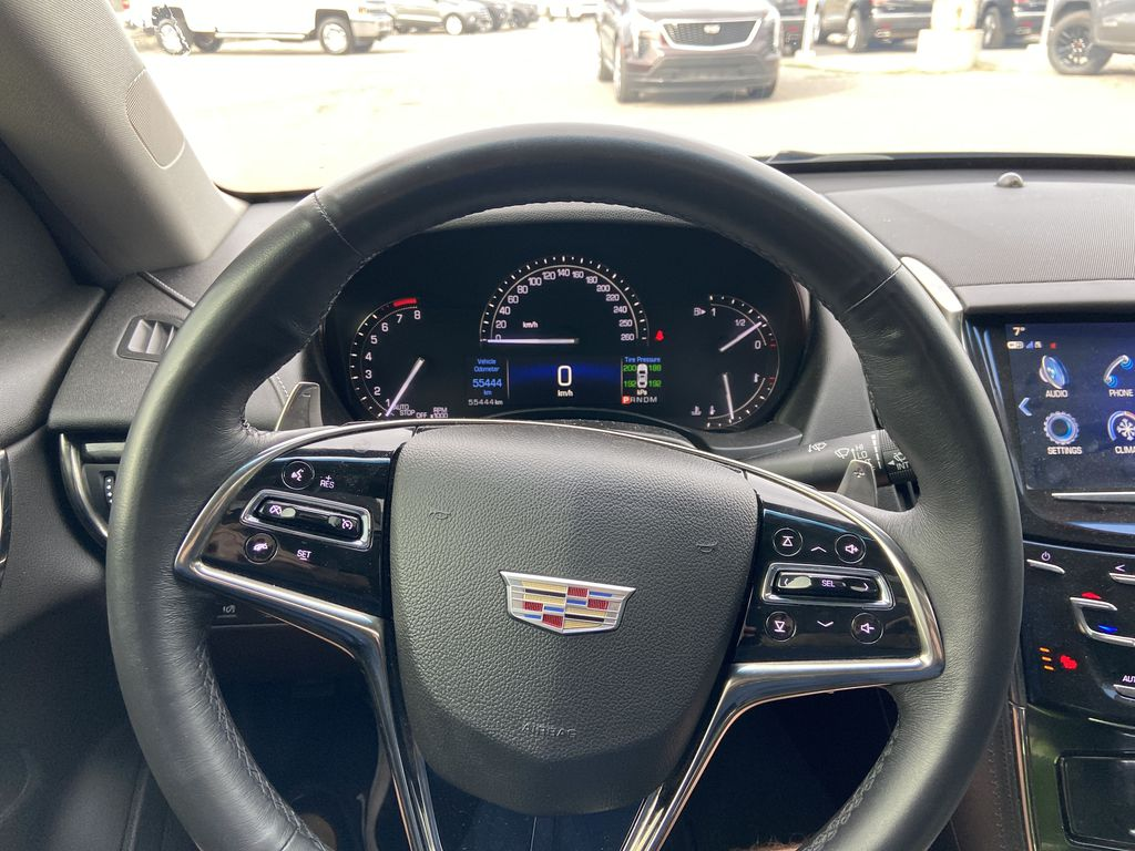 Black[Black Raven] 2017 Cadillac ATS Coupe Steering Wheel and Dash Photo in Calgary AB