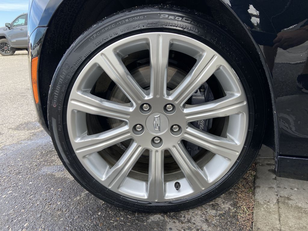 Black[Black Raven] 2017 Cadillac ATS Coupe Left Front Rim and Tire Photo in Calgary AB