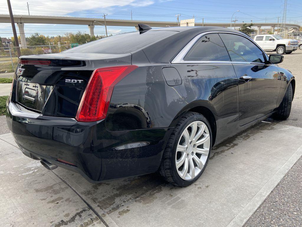 Black[Black Raven] 2017 Cadillac ATS Coupe Right Rear Corner Photo in Calgary AB