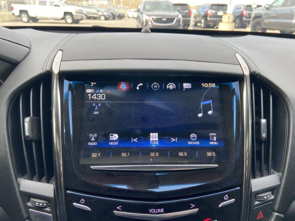 Black[Black Raven] 2017 Cadillac ATS Coupe Radio Controls Closeup Photo in Calgary AB
