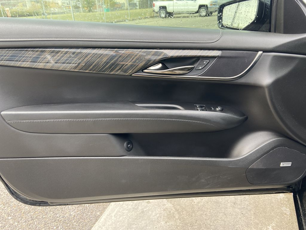 Black[Black Raven] 2017 Cadillac ATS Coupe Left Front Interior Door Panel Photo in Calgary AB