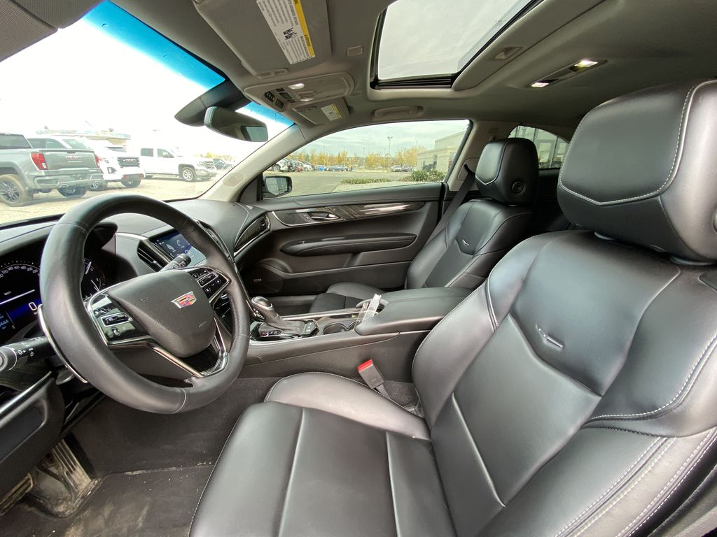 Black[Black Raven] 2017 Cadillac ATS Coupe Left Front Interior Photo in Calgary AB
