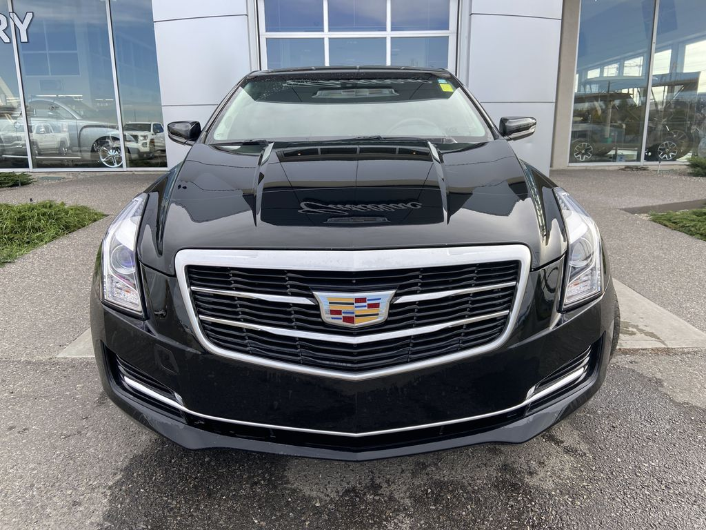 Black[Black Raven] 2017 Cadillac ATS Coupe Front Vehicle Photo in Calgary AB