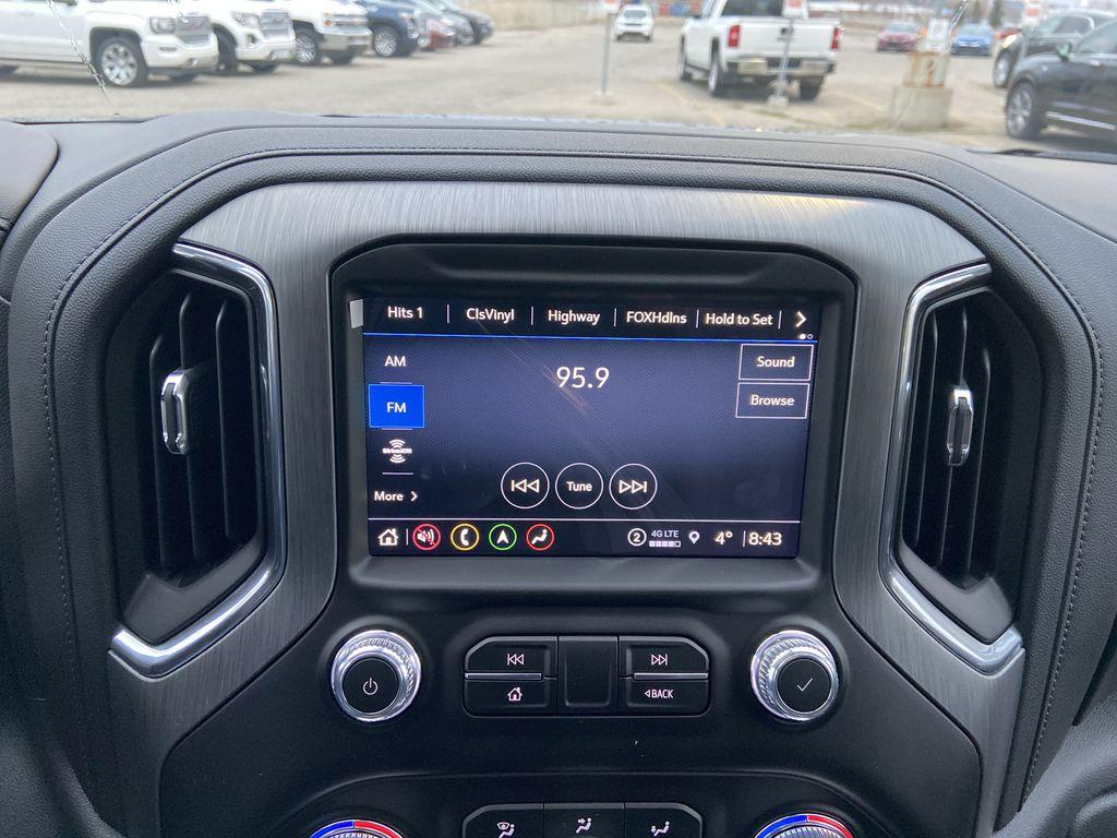 Black[Onyx Black] 2021 GMC Sierra 1500 Denali Radio Controls Closeup Photo in Calgary AB