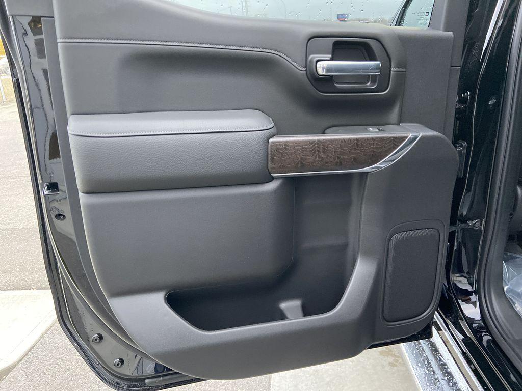 Black[Onyx Black] 2021 GMC Sierra 1500 Denali Left Rear Interior Door Panel Photo in Calgary AB