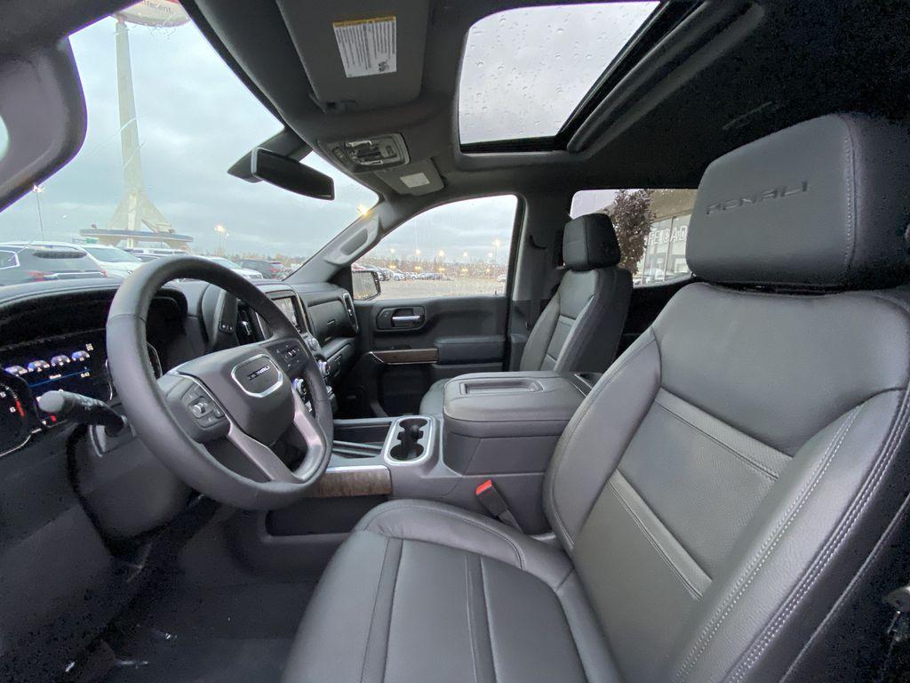 Black[Onyx Black] 2021 GMC Sierra 1500 Denali Left Front Interior Photo in Calgary AB