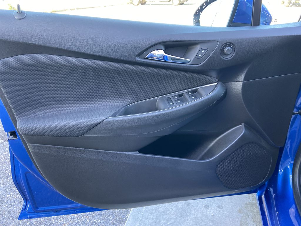 Blue[Kinetic Blue Metallic] 2019 Chevrolet Cruze LT Left Front Interior Door Panel Photo in Calgary AB