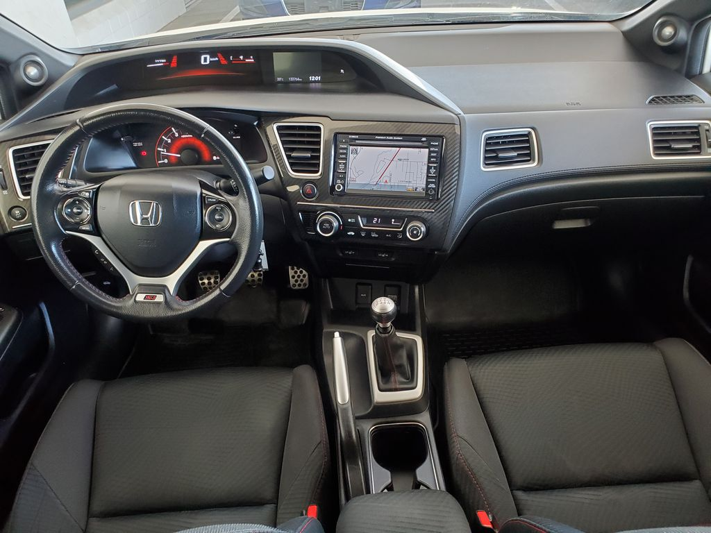 White[Taffeta White] 2013 Honda Civic SI Sedan Main Interior Photo in Kelowna BC
