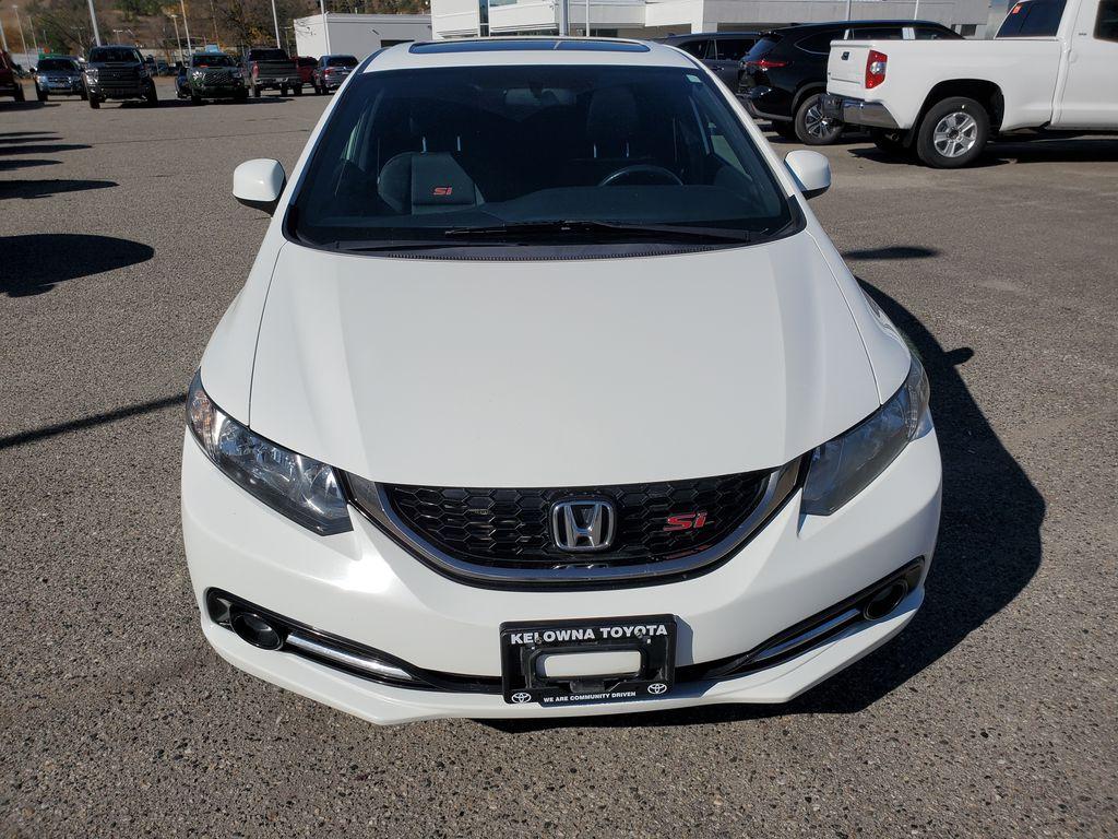 White[Taffeta White] 2013 Honda Civic SI Sedan Front Vehicle Photo in Kelowna BC