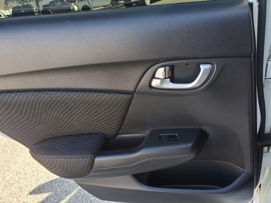 White[Taffeta White] 2013 Honda Civic SI Sedan Left Rear Interior Door Panel Photo in Kelowna BC