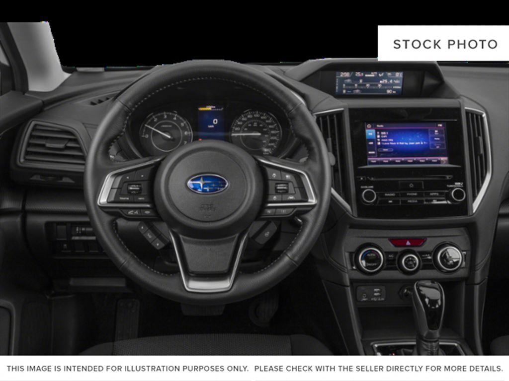 White[Crystal White Pearl] 2022 Subaru Impreza Steering Wheel and Dash Photo in Lethbridge AB