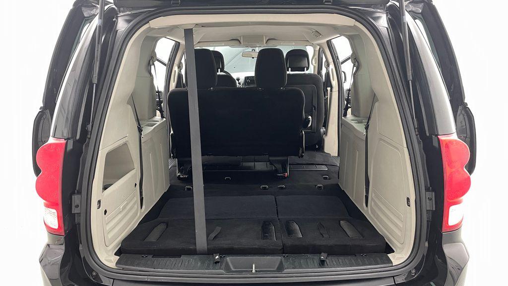 Black[Brilliant Black Crystal Pearlcoat] 2014 Dodge Grand Caravan SE - 7 Passenger, Roof Rails, LOW KMs Rear Seat: Cargo/Storage Photo in Winnipeg MB
