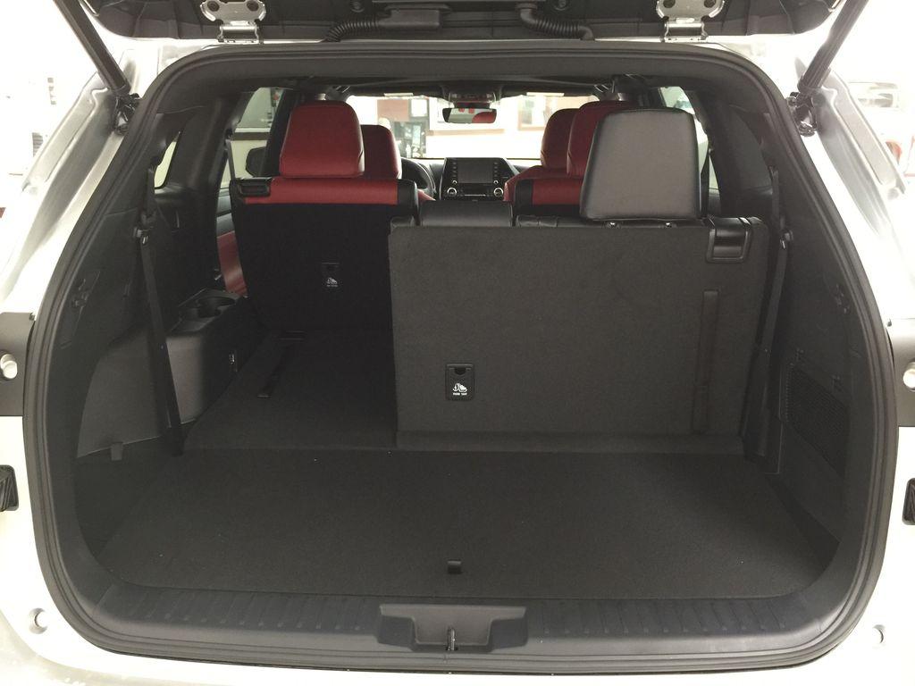 Silver[Celestial Silver Metallic] 2021 Toyota Highlander XSE Cargo Area/Rear Seats Photo in Sherwood Park AB