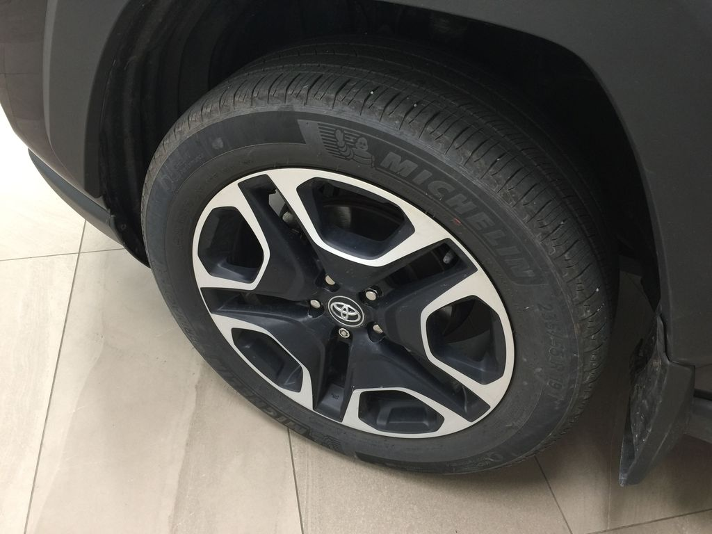 BLACK 2020 Toyota RAV4 TRAIL AWD Left Front Rim and Tire Photo in Sherwood Park AB
