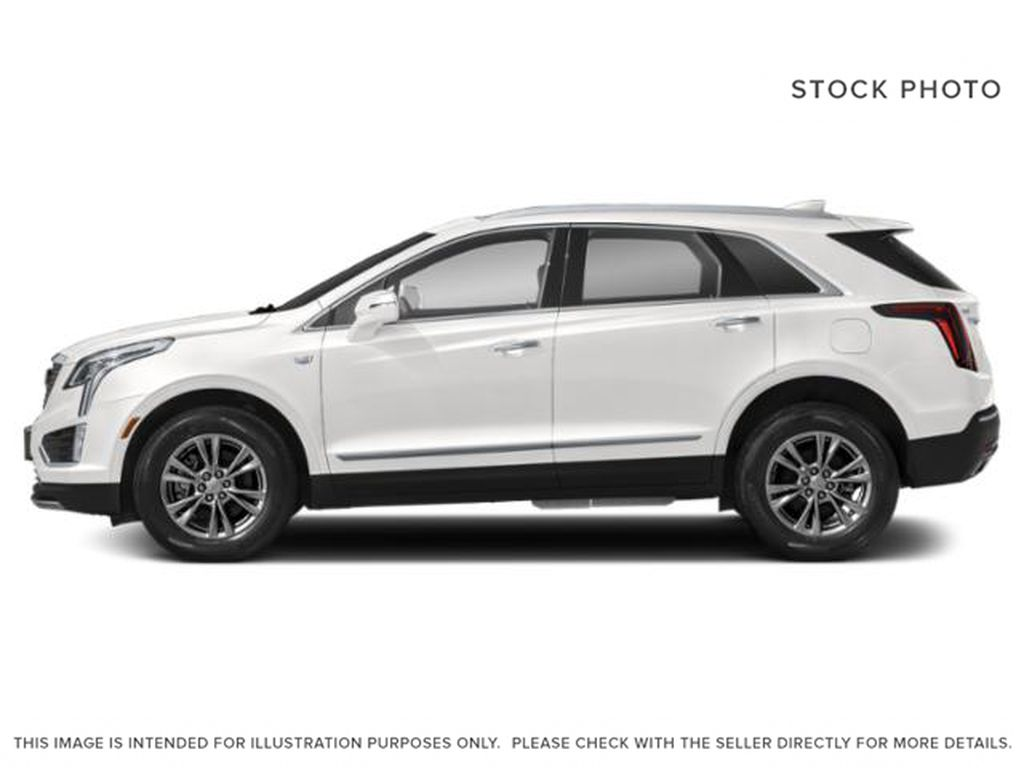 White[Crystal White Tricoat] 2022 Cadillac XT5 Premium Luxury Left Side Photo in Calgary AB