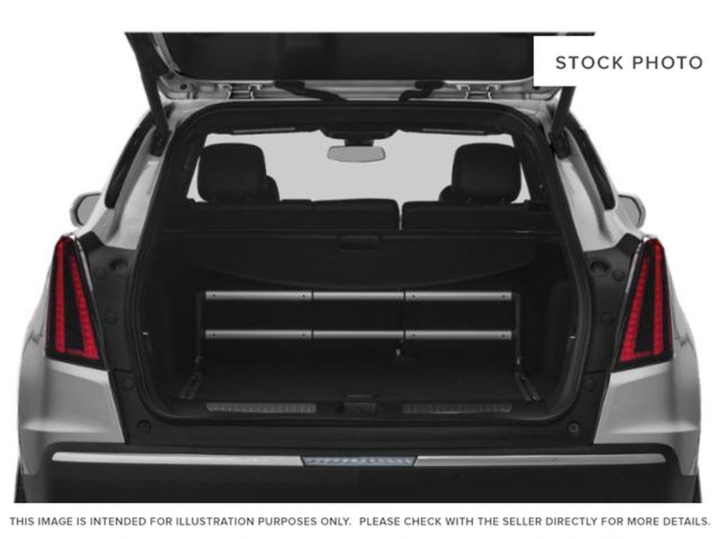 White[Crystal White Tricoat] 2022 Cadillac XT5 Premium Luxury Trunk / Cargo Area Photo in Calgary AB