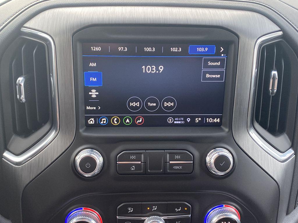 White[White Frost Tricoat] 2021 GMC Sierra 1500 Radio Controls Closeup Photo in Edmonton AB