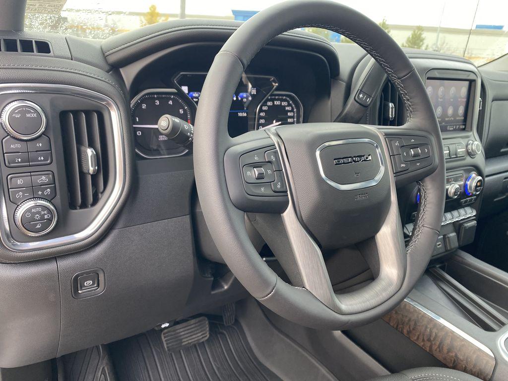 White[White Frost Tricoat] 2021 GMC Sierra 1500 Steering Wheel and Dash Photo in Edmonton AB