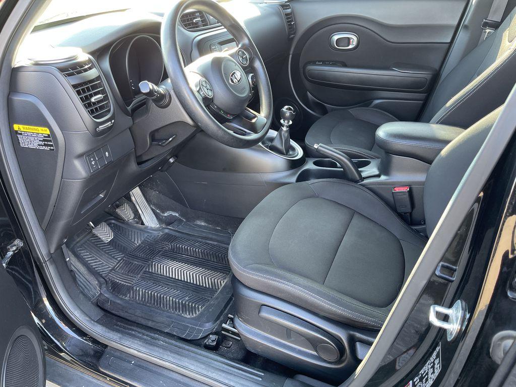 Black[Onyx Pearl] 2016 Kia Soul 5dr Wgn Manual LX *Heated Seats* *Bluetooth* *Cruise* Left Front Interior Photo in Brandon MB