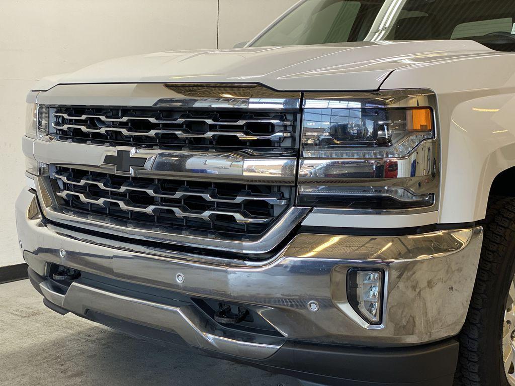 WHITE 2017 Chevrolet Silverado 1500 LTZ - Navigation, Apple CarPlay, Backup Camera Left Front Head Light / Bumper and Grill in Edmonton AB