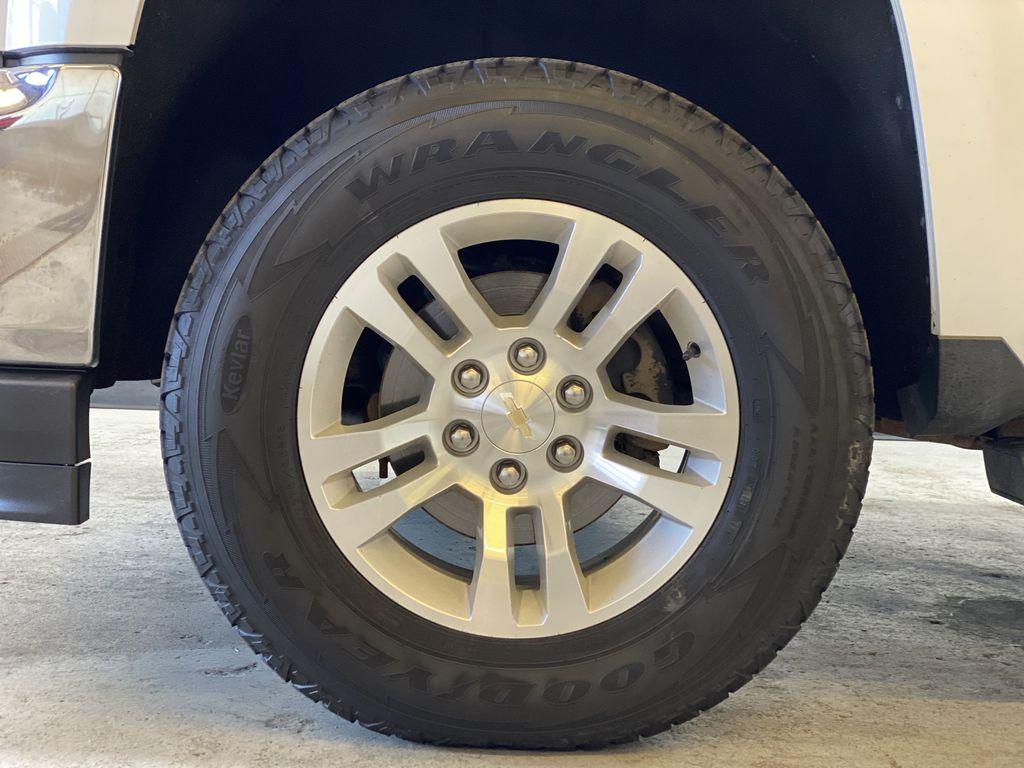 WHITE 2017 Chevrolet Silverado 1500 LTZ - Navigation, Apple CarPlay, Backup Camera Left Front Rim and Tire Photo in Edmonton AB