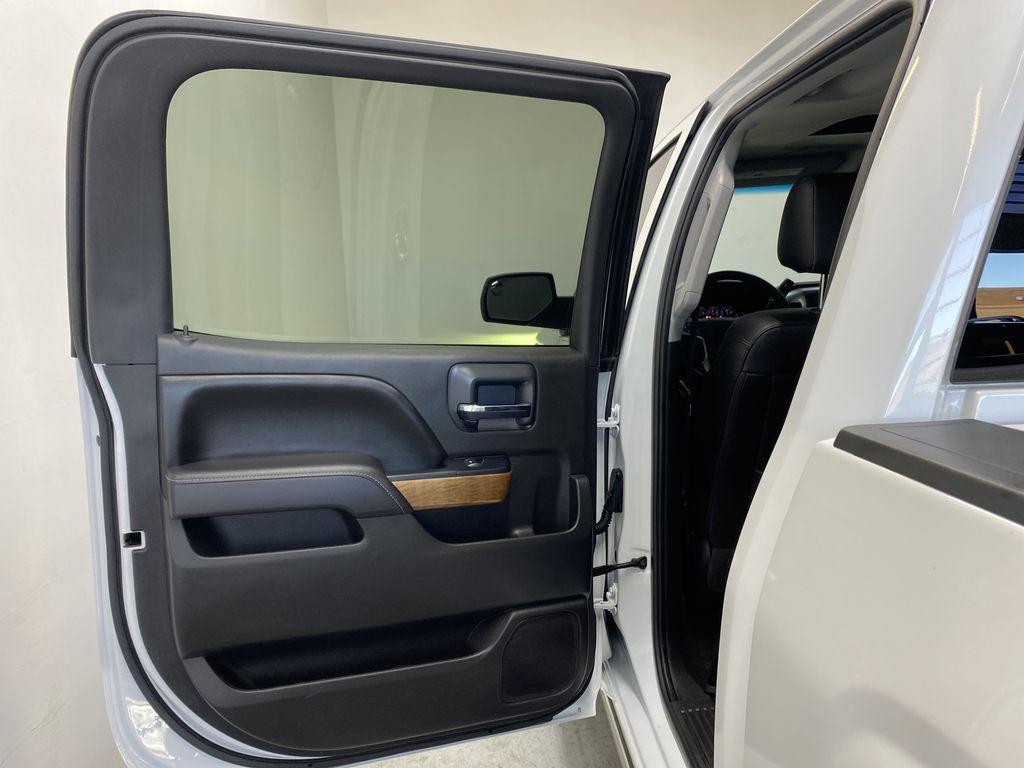 WHITE 2017 Chevrolet Silverado 1500 LTZ - Navigation, Apple CarPlay, Backup Camera Left Rear Interior Door Panel Photo in Edmonton AB