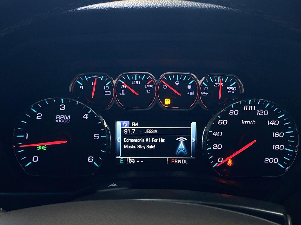 WHITE 2017 Chevrolet Silverado 1500 LTZ - Navigation, Apple CarPlay, Backup Camera Odometer Photo in Edmonton AB