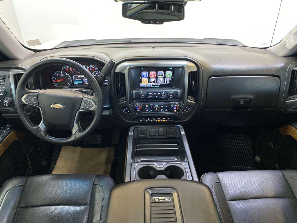 WHITE 2017 Chevrolet Silverado 1500 LTZ - Navigation, Apple CarPlay, Backup Camera Strng Wheel/Dash Photo: Frm Rear in Edmonton AB