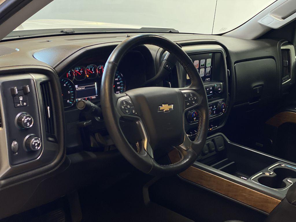 WHITE 2017 Chevrolet Silverado 1500 LTZ - Navigation, Apple CarPlay, Backup Camera Steering Wheel and Dash Photo in Edmonton AB