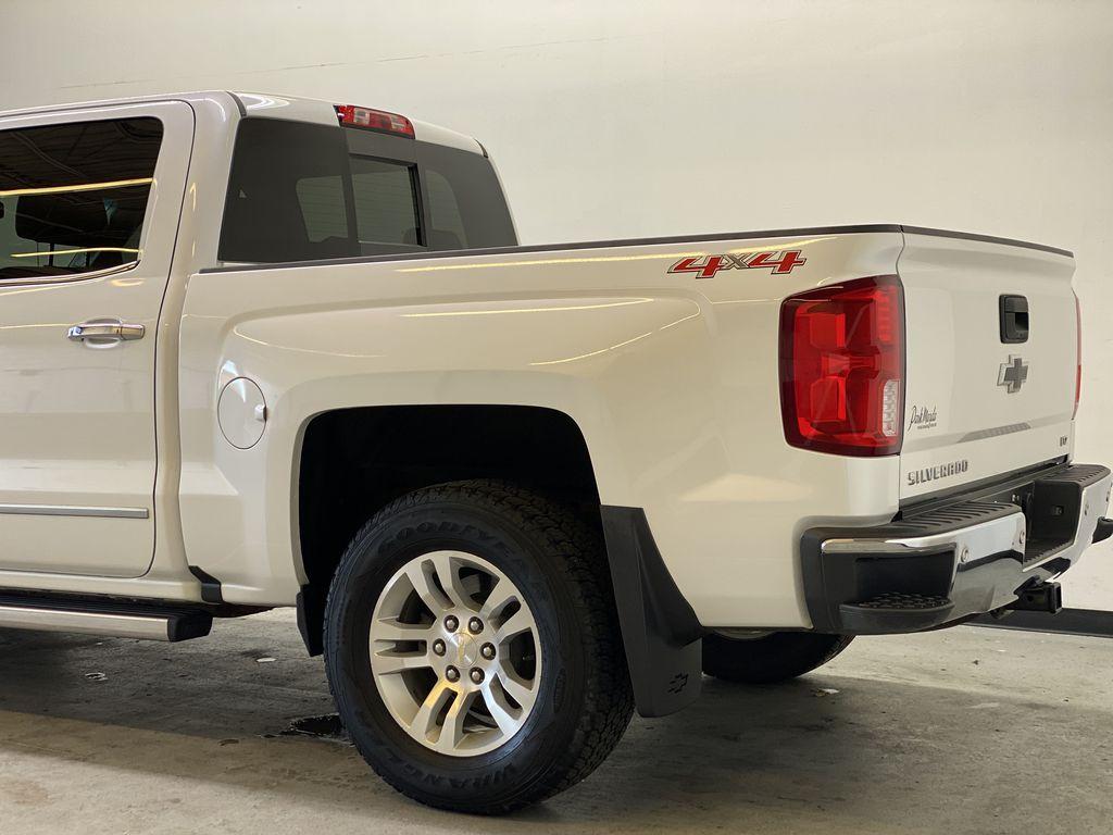 WHITE 2017 Chevrolet Silverado 1500 LTZ - Navigation, Apple CarPlay, Backup Camera Left Rear Corner Photo in Edmonton AB