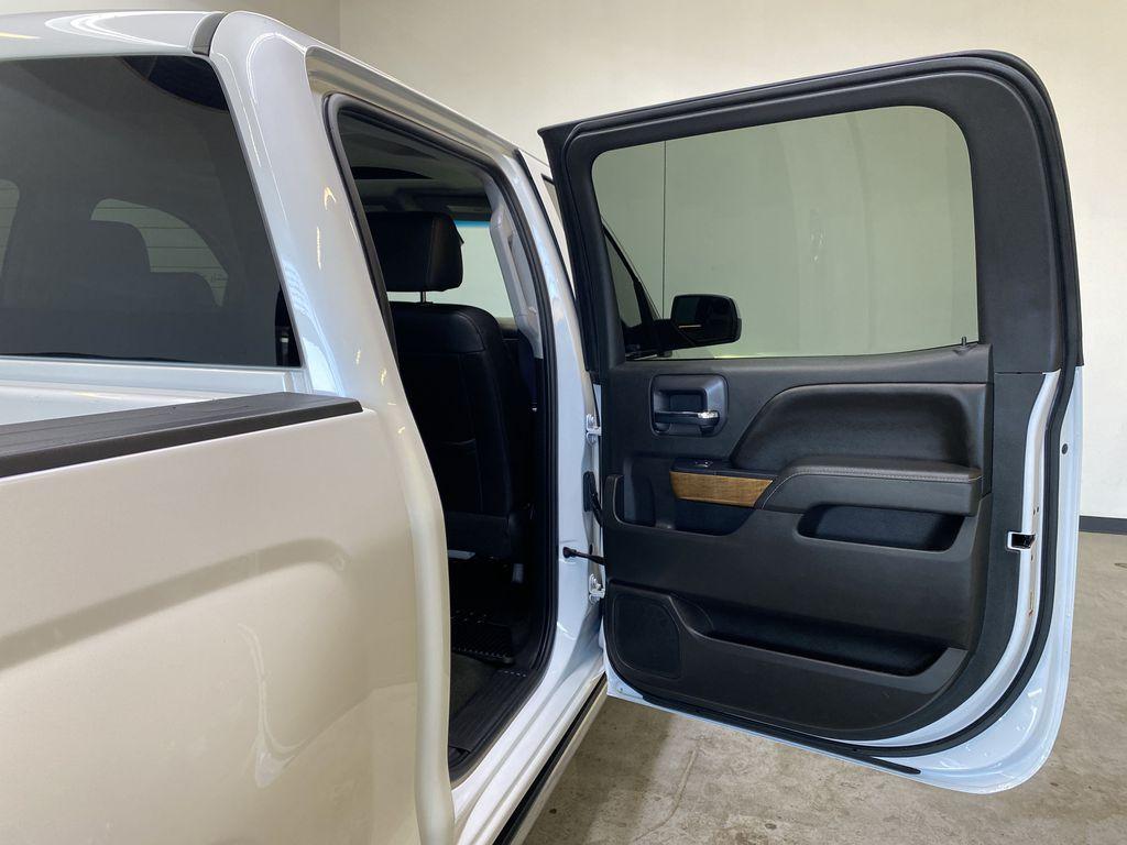 WHITE 2017 Chevrolet Silverado 1500 LTZ - Navigation, Apple CarPlay, Backup Camera Right Rear Interior Door Panel Photo in Edmonton AB