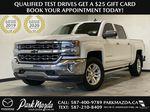 WHITE 2017 Chevrolet Silverado 1500 LTZ - Navigation, Apple CarPlay, Backup Camera Primary Photo in Edmonton AB
