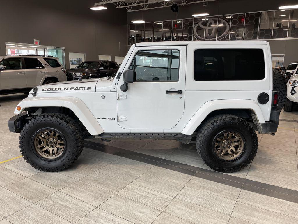 White 2018 Jeep Wrangler JK Golden Eagle Left Side Photo in Edmonton AB