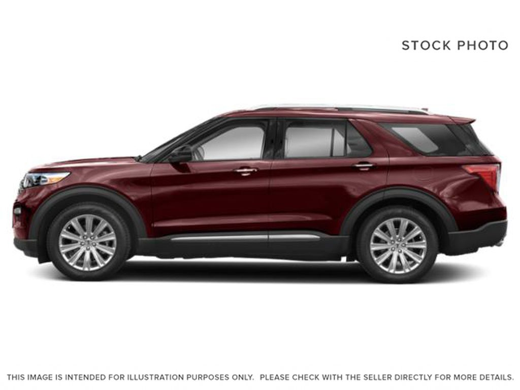 Red[Burgundy Velvet Metallic Tinted Clearcoat] 2022 Ford Explorer Left Side Photo in Dartmouth NS