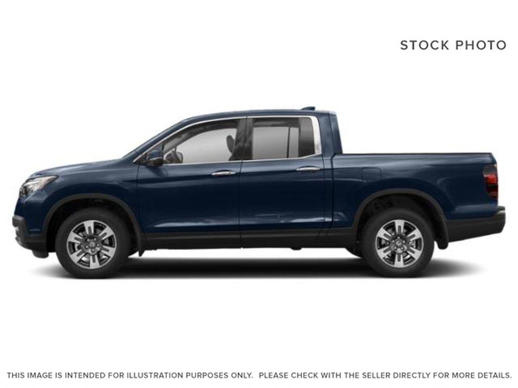 Blue[Obsidian Blue Pearl] 2019 Honda Ridgeline Left Side Photo in Okotoks AB