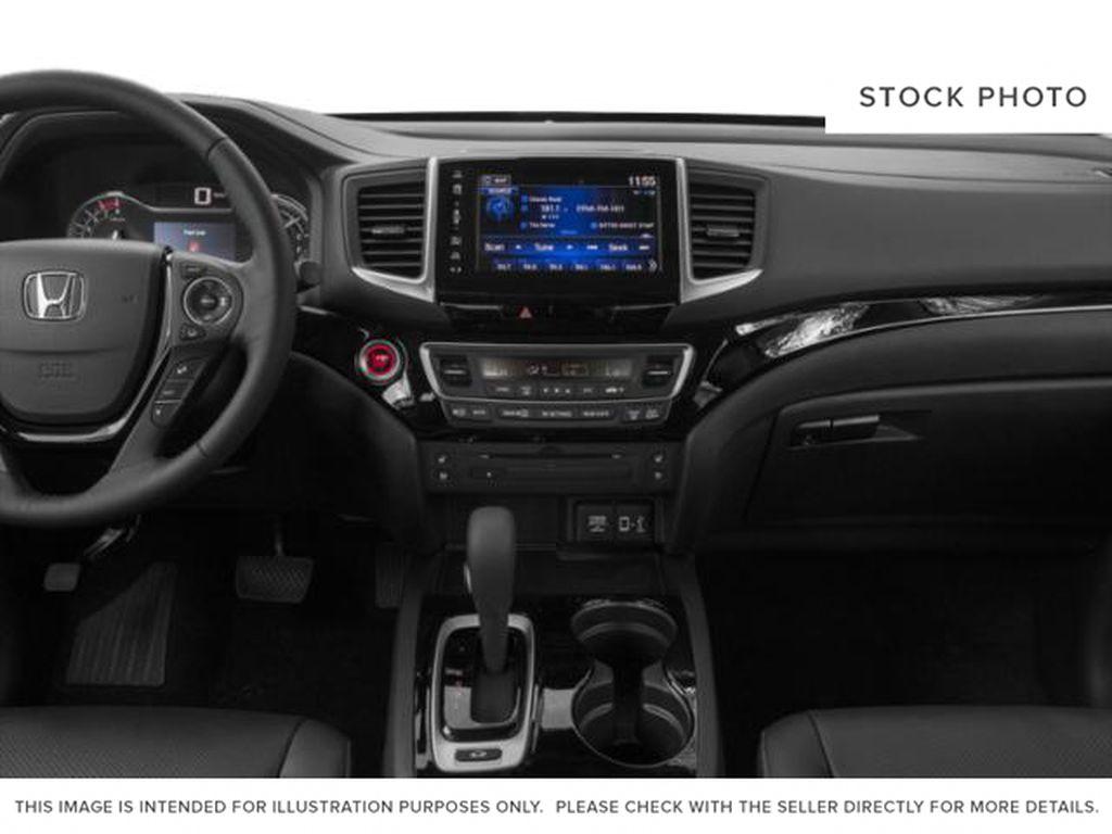 Blue[Obsidian Blue Pearl] 2019 Honda Ridgeline Radio Controls Closeup Photo in Okotoks AB