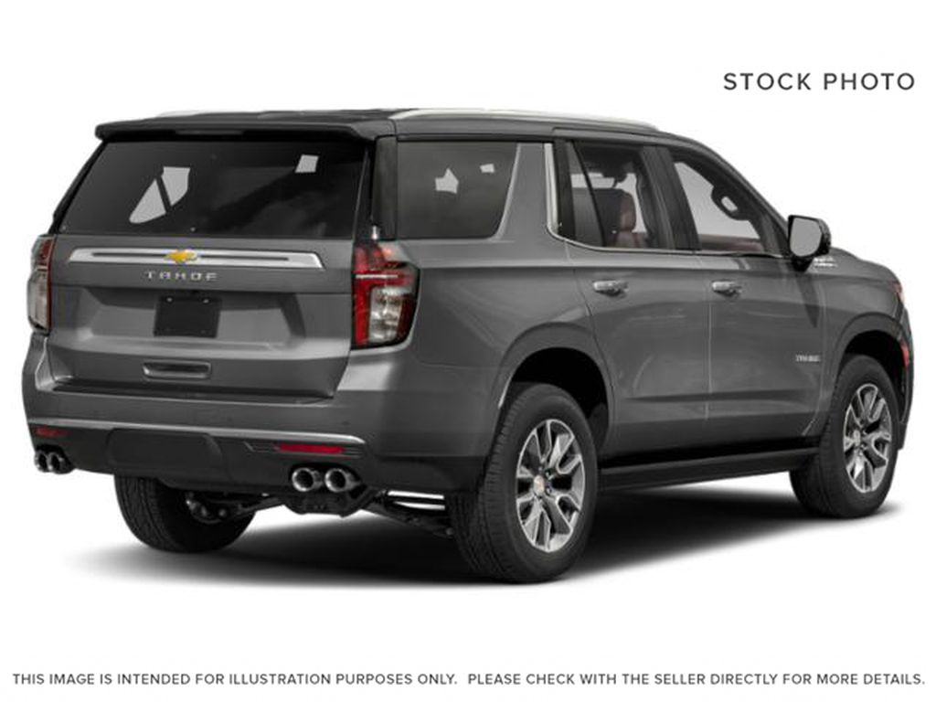 Gray[Satin Steel Metallic] 2021 Chevrolet Tahoe High Country Right Rear Corner Photo in Calgary AB