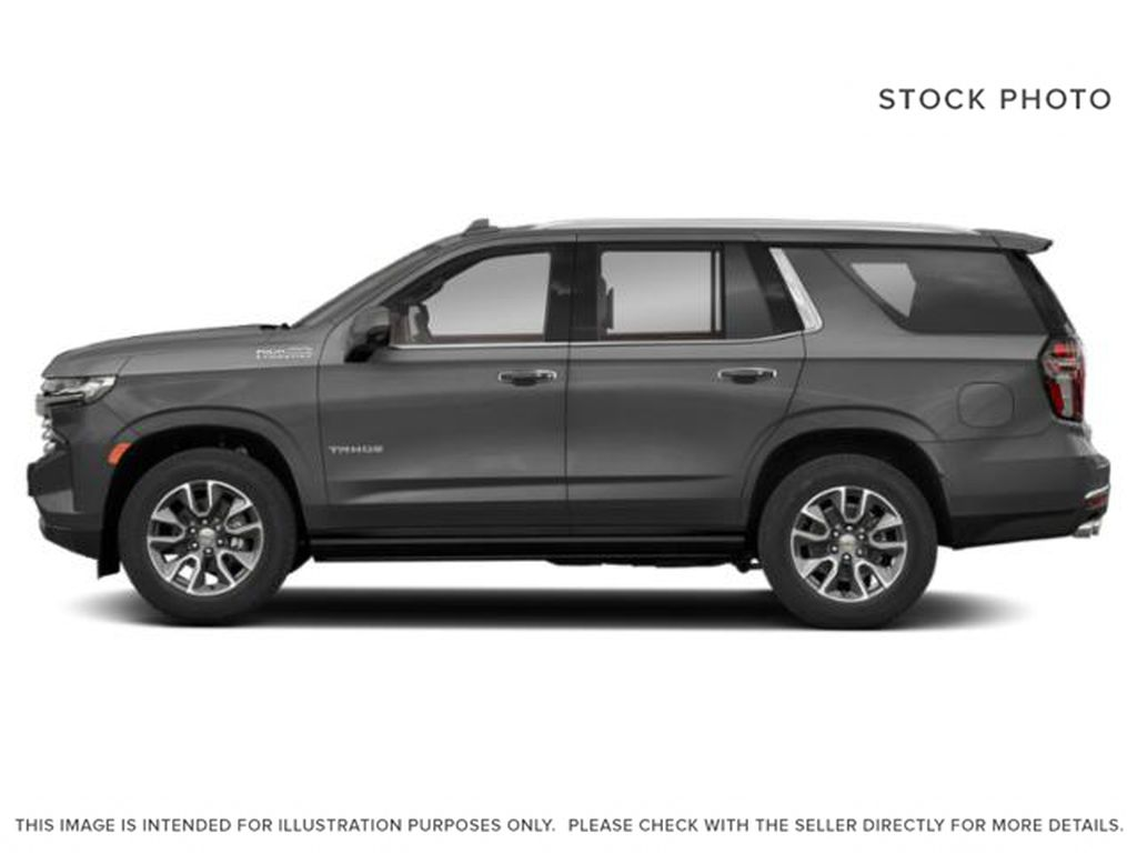 Gray[Satin Steel Metallic] 2021 Chevrolet Tahoe High Country Left Side Photo in Calgary AB