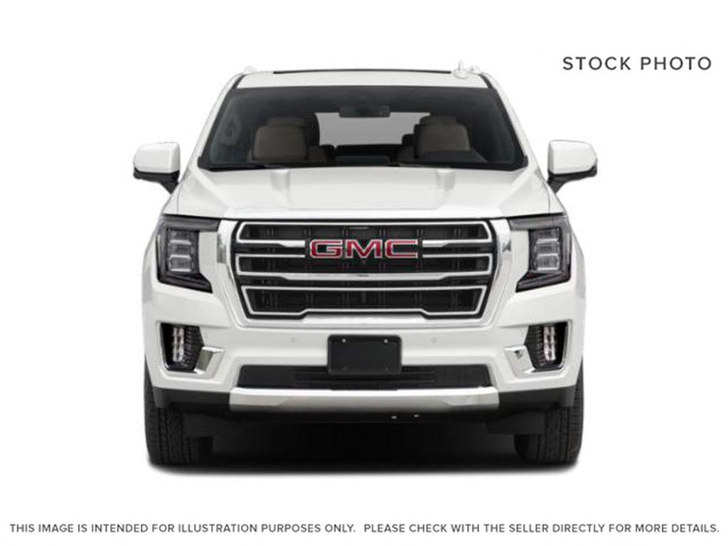 White[Summit White] 2021 GMC Yukon SLT Front Vehicle Photo in Calgary AB